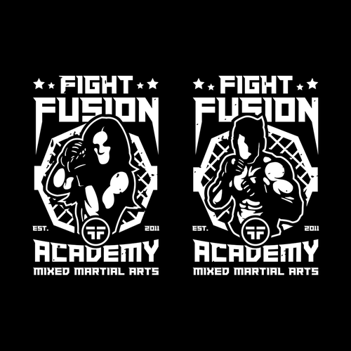 Fight design with the title 'Fight Fusion Academy'