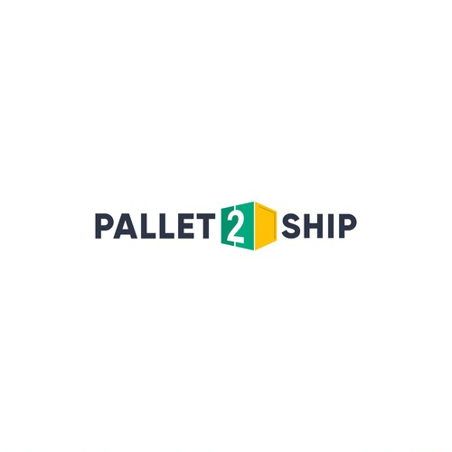 Cargo design with the title 'Logo Design for Pallet2Ship'
