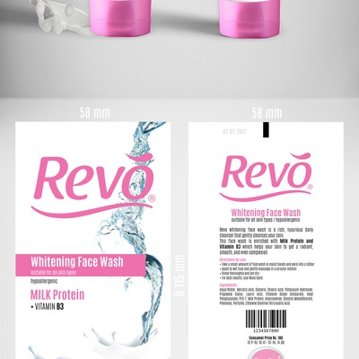 Package design for Revo cosmetics