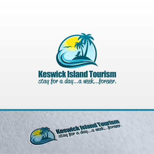 Island logo with the title 'Create the next logo for KIT'