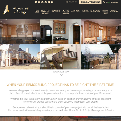 Building website with the title 'Home Remodeling Website'