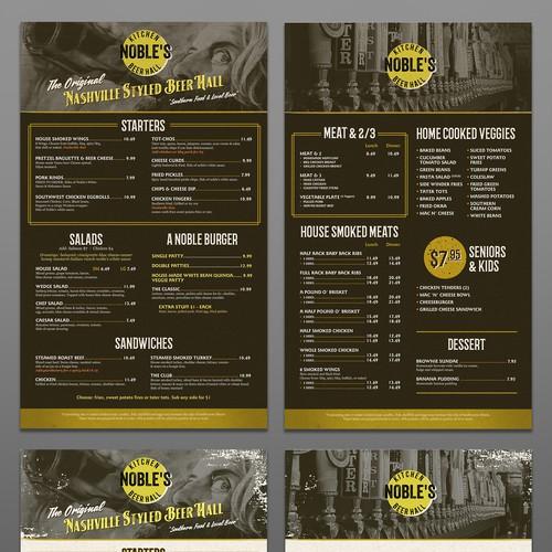 Wild west design with the title 'Wild West Menu Design'