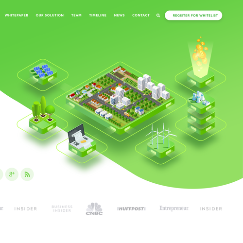 SaaS website with the title 'Green Energy Crypto Blockchain Website Design'
