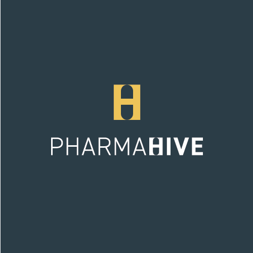 Whitespace design with the title 'Logo proposal for a pharmaceuticals company'