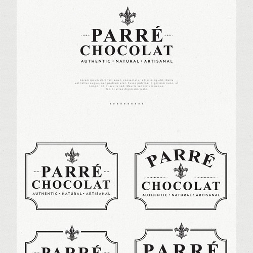 Sweet logo with the title 'Logo Design for Parré Chocolat'