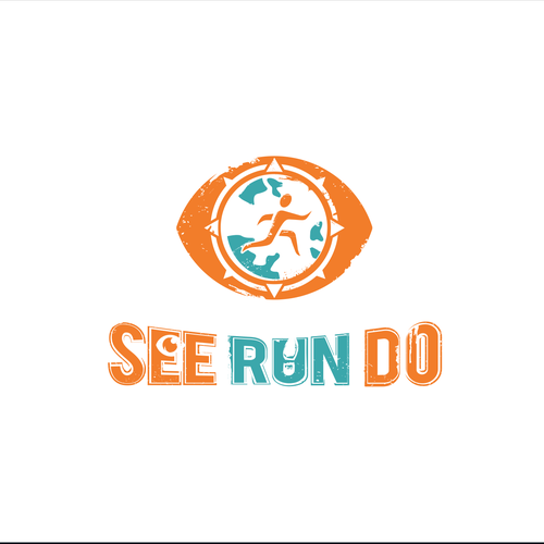 Extreme design with the title 'Runner Up logo for travel blog'