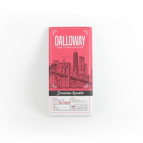 Chocolate design with the title 'Label for Dalloway chocolate company'
