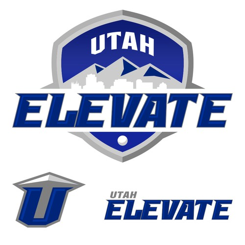 Lacrosse logo with the title 'Utah Elevate Lacrosse'