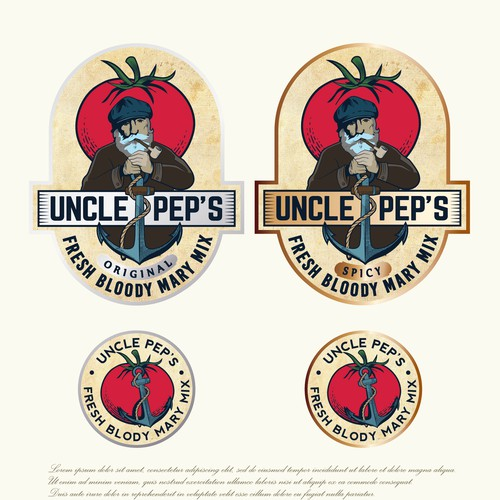 Spice logo with the title 'Uncle Pep's Fresh Bloody Mary Mix'