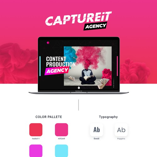 Typography website with the title 'Marketing Agency website (cool shit)'