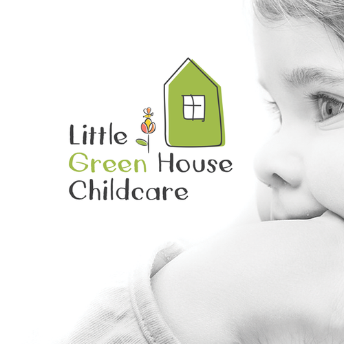 Natural product logo with the title 'little children green house logo'