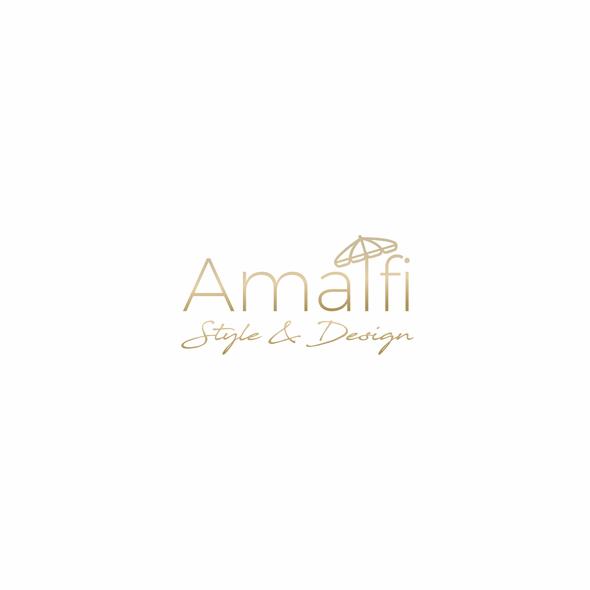Umbrella design with the title 'Simple logo concept'