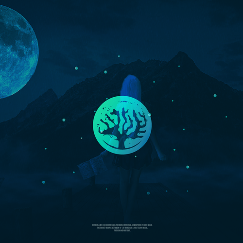 Dark logo with the title 'Mystery tree logo design'