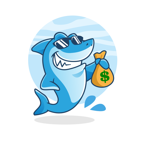 Technology logo with the title 'Money Shark'