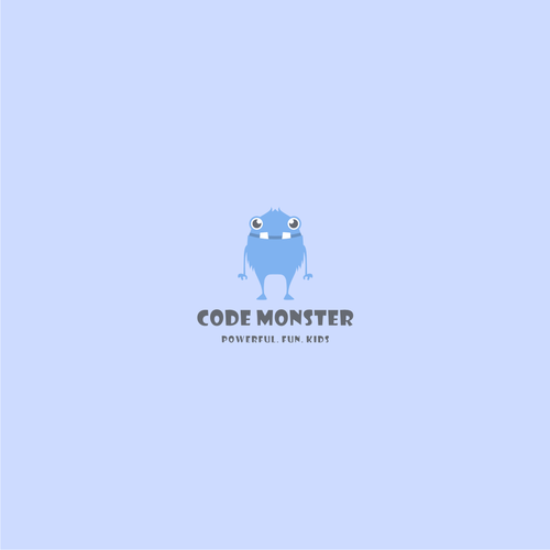 Good logo with the title 'code monster'