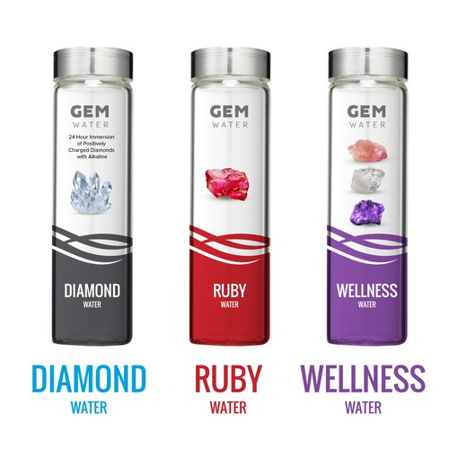 Gem design with the title 'Gem Water - Package Design '