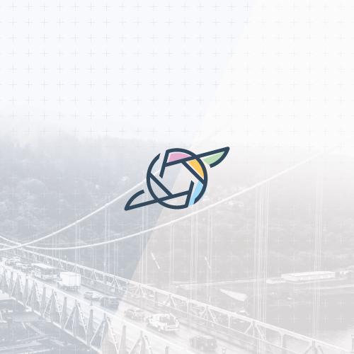 Lens design with the title 'Minimalistic hummingbird logo'