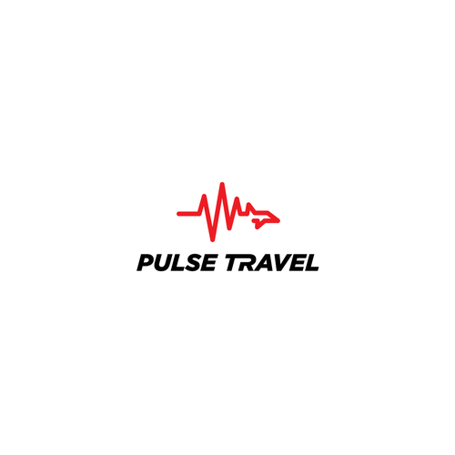 Tourism design with the title 'Pulse Travel'