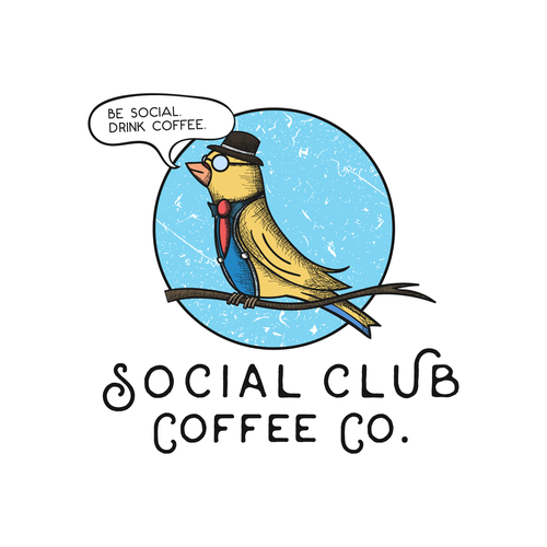 Nostalgic logo with the title 'Vintage logo for a Coffee Company.'