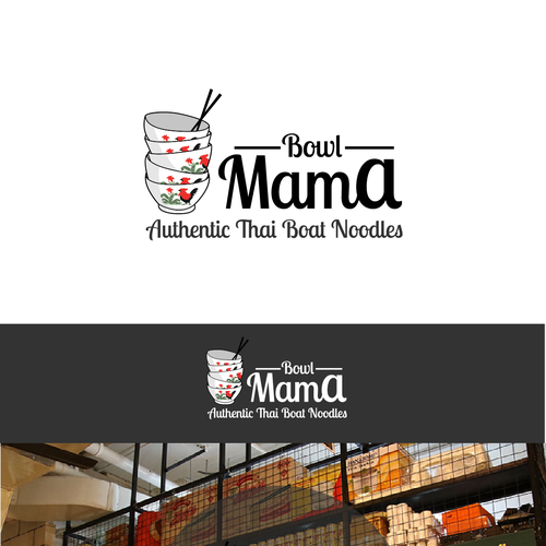 Authentic logo with the title 'Authentic Logo for Bowl Mama'