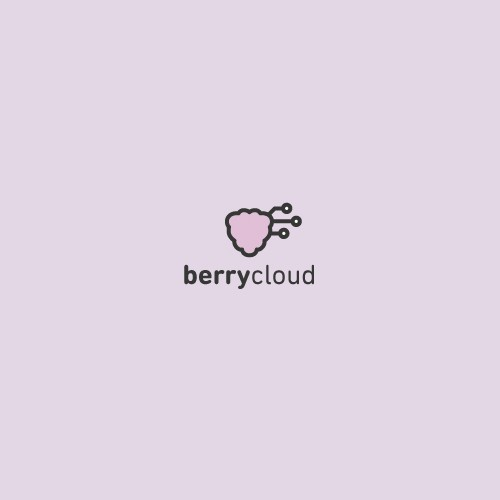 Berry design with the title 'Logo Design BerryCloud'