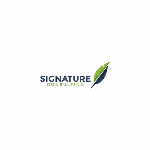 Notary logo with the title 'Logo concept for Signature Consulting'