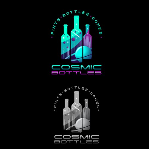 Cosmos logo with the title 'Cosmic Bottles'