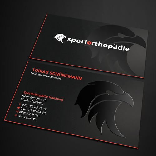 Spot UV design with the title 'Business card design.'