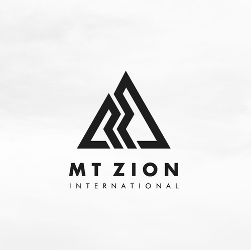 Mountain logo with the title 'Strong logo design a religious group'