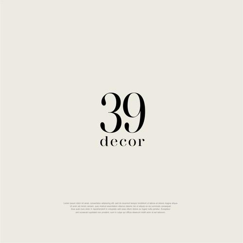 Interior design logo with the title '39 DECOR'
