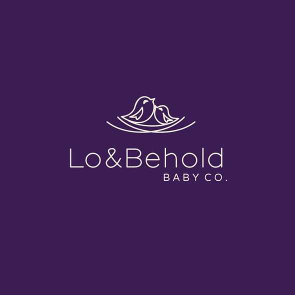Mother and child logo with the title 'Simple & Fun Baby Company Logo'