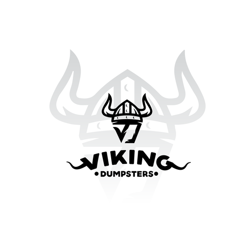 Garbage and trash logo with the title 'logo for viking dumpsters'