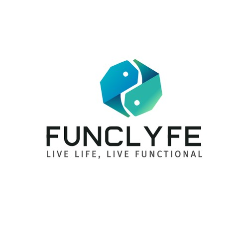 Lifestyle brand with the title 'Logo Design Concept for FUNCLYFE'