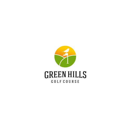 Out-of-the-box logo with the title 'Green Hills Golf'