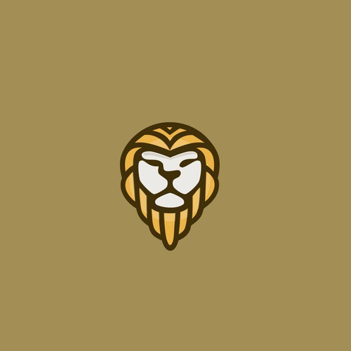 Lion head design with the title 'Bold concept for a Lion safari'