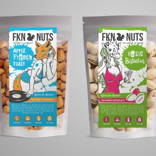 Blue design with the title 'Labels for FKN NUTS'