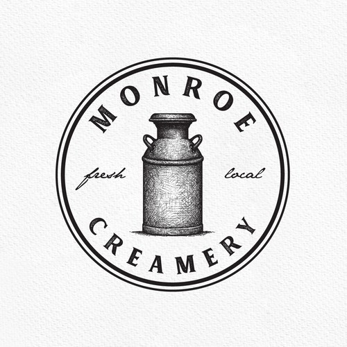 Can design with the title 'Monroe Creamery'