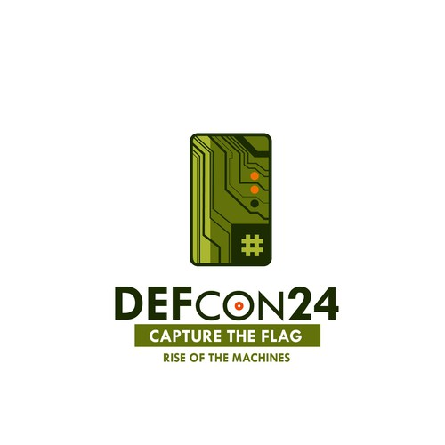 Cyberpunk logo with the title 'DEF CON 24 Rise of the machines'