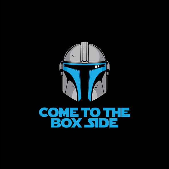 Helmet t-shirt with the title 'Come To The Box Side'