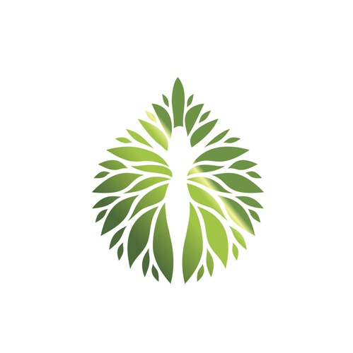 Leaf design with the title 'Organic Skincare Logo'