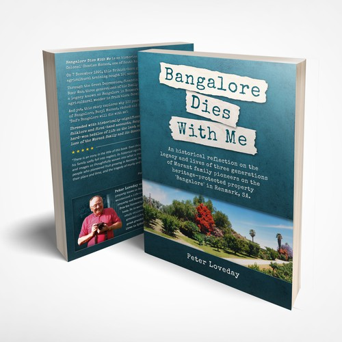 """Memory design with the title 'Cover for the book """"Bangalore Dies With Me""""'"""