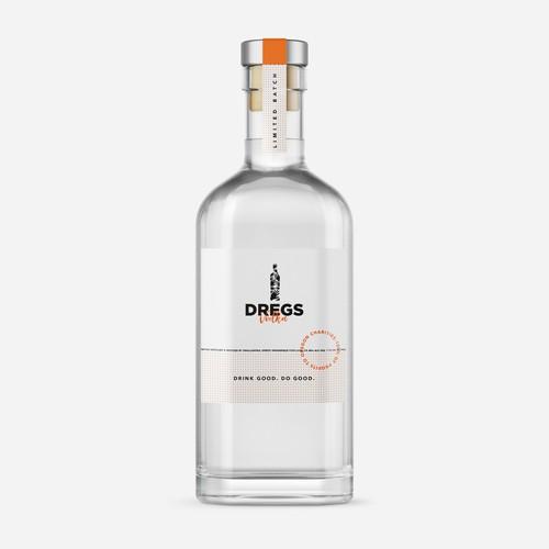 Vodka packaging with the title 'Vodka label design'