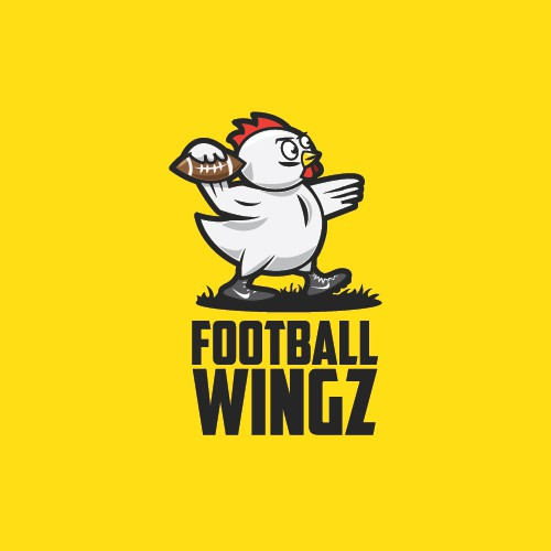 Football logo with the title 'Football Wingz'