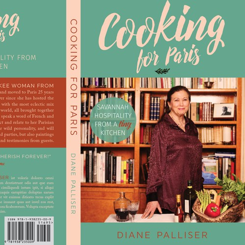 Food book cover with the title 'Cookbook Cover Design'
