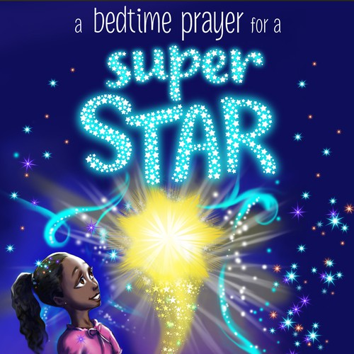 Sparkle design with the title 'Cover for a children's Christian Book '