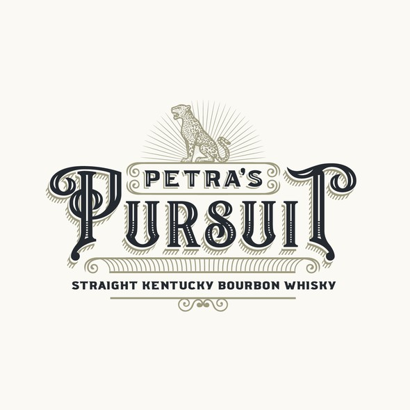 Kentucky logo with the title 'Logo design for a burboun brand Petra's Pursuit'