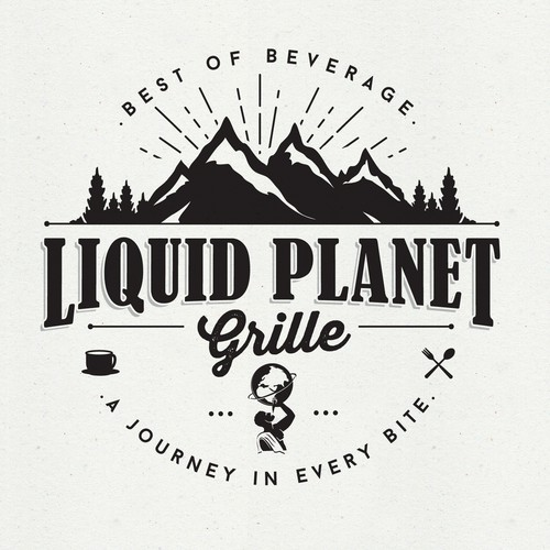 Craft logo with the title 'LIQUID PLANET GRILLE'