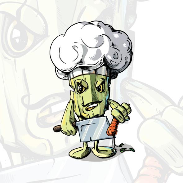 Chef artwork with the title 'Broccoli Chef'