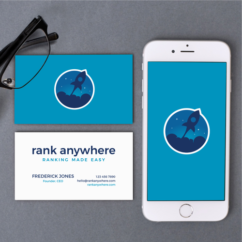 Sky brand with the title 'Modern logo design for Rank Anywhere'