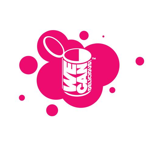 Pop art logo with the title 'Pop art logo concept'